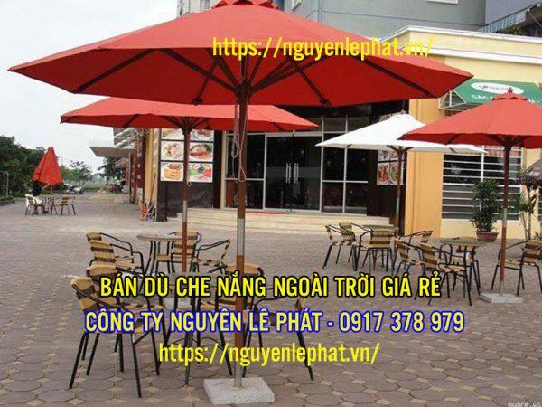 Giá Dù Che Nắng Quán Cafe Đứng Tâm Bao Nhiêu