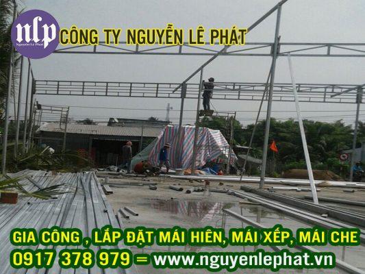 Thi Công Lắp Đặt Mái Che, Mái Bạt Kéo Di Động tại Thuận An Bình Dương