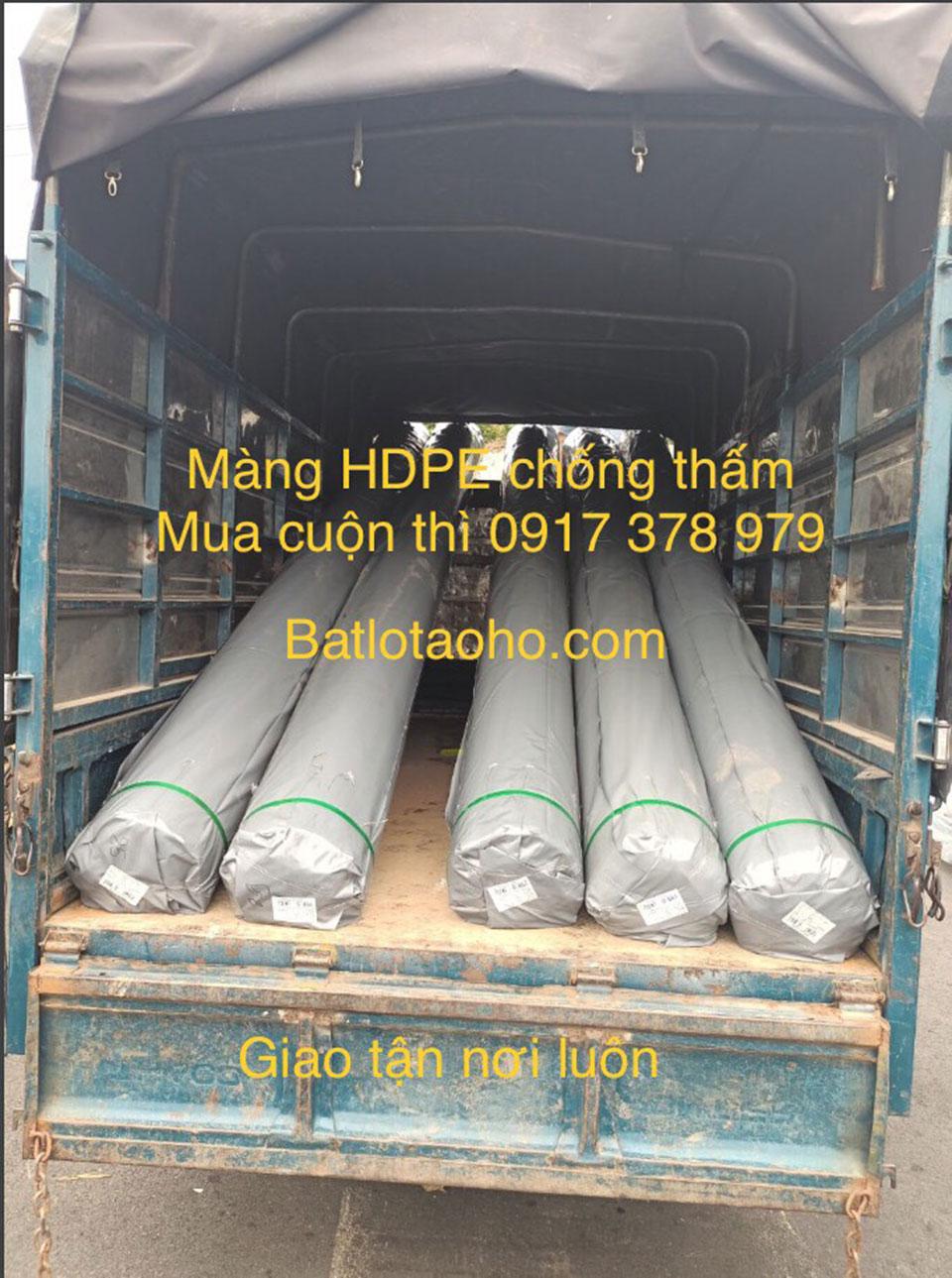 Bạt nhựa HDPe lót ao hồ chứa nước Cam Ranh Nha Trang