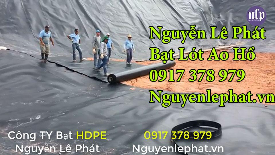 Bạt lót ao hồ chứa nước tưới cây nuôi cá tại Cam Ranh